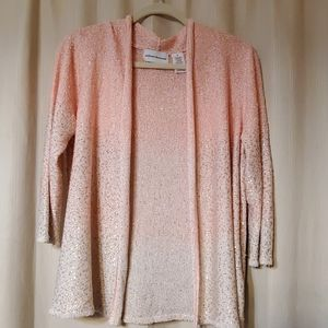 Alfred Dunner peach cardigan